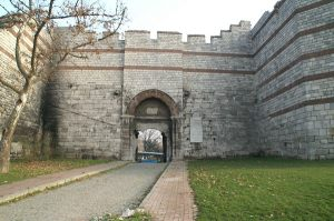The Charisius Gate in the Walls of Constantinople
