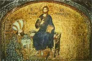 Mosaic of Theodore Metochites from the Chora monastery in Constantinople
