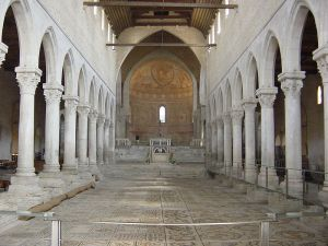 The wonderful mosaic floor of the Basilica at Aquiliea