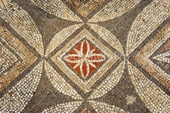 Byzantine Era Geometric Mosaic Unearthed In Syrian
