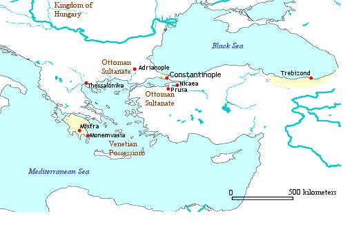 Map of Byzantine Constantinople Illustration  Ancient