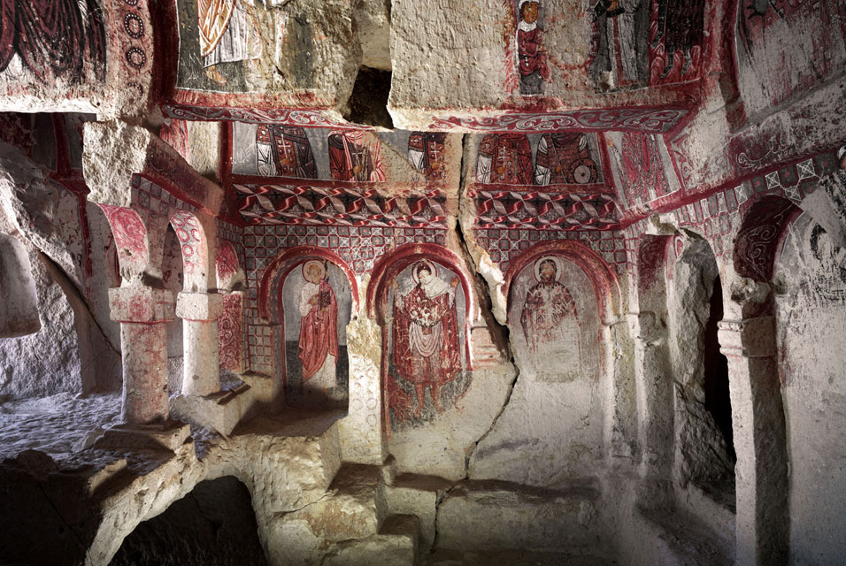 Photographs of early Christian churches in the Cappadocia ...